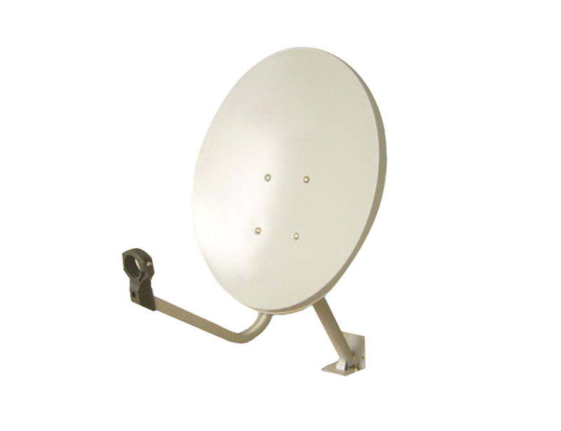 Sw-KU45 satellite dish antenna has a one-piece compression molded reflector.