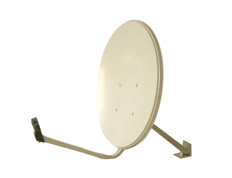 Sw-KU60 satellite dish antenna has a one-piece compression molded reflector
