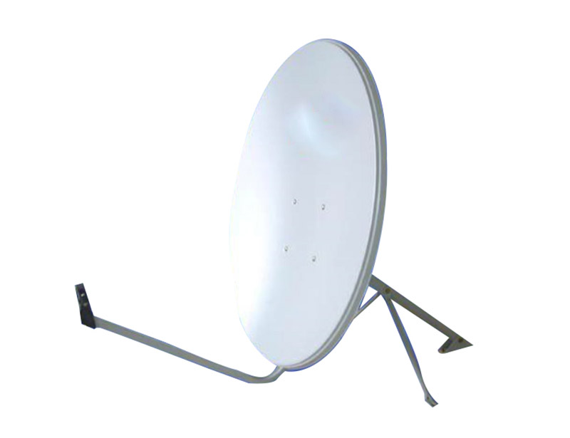 Sw-KU75satellite dish antenna has a one-piece compression molded reflector