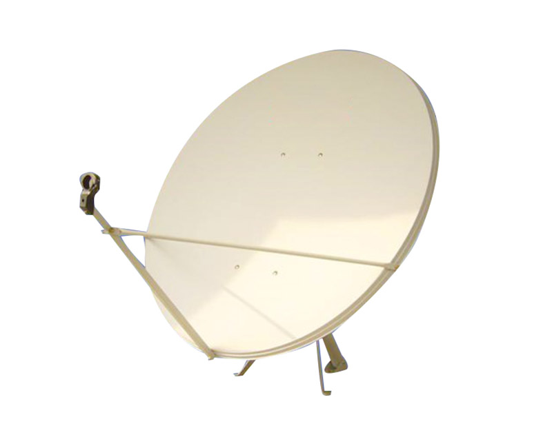 Sw-KU120 satellite dish antenna has a one-piece compression molded reflector